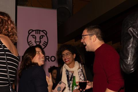 9. IFFR reception @ TIFF - On the back; IFFR CineMart coordinator Inke van Loocke, Alesia Weston and two others